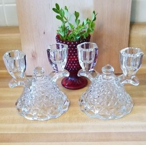 Imperial Glass Double Candlesticks